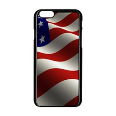 Flag United States Stars Stripes Symbol Apple Iphone 6/6s Black Enamel Case by Simbadda