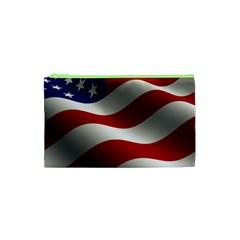 Flag United States Stars Stripes Symbol Cosmetic Bag (xs) by Simbadda