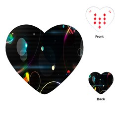 Glare Light Luster Circles Shapes Playing Cards (heart)  by Simbadda
