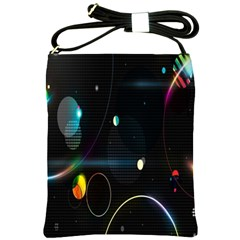 Glare Light Luster Circles Shapes Shoulder Sling Bags by Simbadda