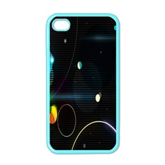 Glare Light Luster Circles Shapes Apple Iphone 4 Case (color) by Simbadda