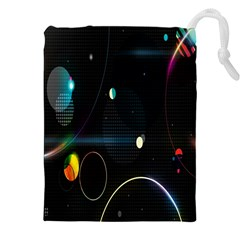 Glare Light Luster Circles Shapes Drawstring Pouches (xxl) by Simbadda
