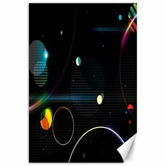 Glare Light Luster Circles Shapes Canvas 20  X 30   by Simbadda