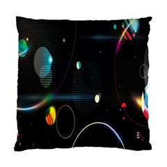Glare Light Luster Circles Shapes Standard Cushion Case (two Sides) by Simbadda