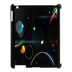 Glare Light Luster Circles Shapes Apple Ipad 3/4 Case (black) by Simbadda