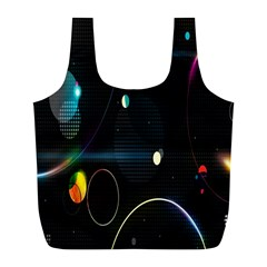 Glare Light Luster Circles Shapes Full Print Recycle Bags (l)  by Simbadda