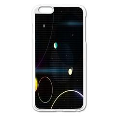 Glare Light Luster Circles Shapes Apple Iphone 6 Plus/6s Plus Enamel White Case