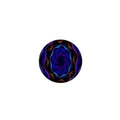 Flowers Dive Neon Light Patterns 1  Mini Magnets by Simbadda