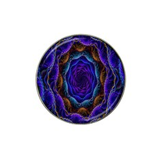 Flowers Dive Neon Light Patterns Hat Clip Ball Marker (4 Pack) by Simbadda