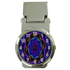 Flowers Dive Neon Light Patterns Money Clip Watches by Simbadda