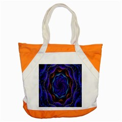 Flowers Dive Neon Light Patterns Accent Tote Bag by Simbadda