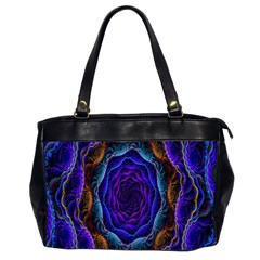 Flowers Dive Neon Light Patterns Office Handbags (2 Sides)  by Simbadda