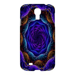 Flowers Dive Neon Light Patterns Samsung Galaxy S4 I9500/i9505 Hardshell Case by Simbadda