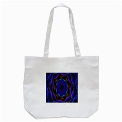 Flowers Dive Neon Light Patterns Tote Bag (white) by Simbadda