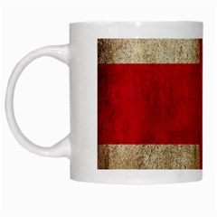 Georgia Flag Mud Texture Pattern Symbol Surface White Mugs by Simbadda