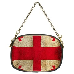 Georgia Flag Mud Texture Pattern Symbol Surface Chain Purses (one Side)  by Simbadda