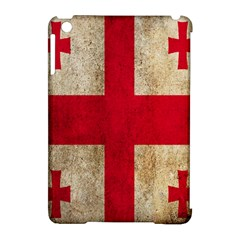 Georgia Flag Mud Texture Pattern Symbol Surface Apple Ipad Mini Hardshell Case (compatible With Smart Cover) by Simbadda