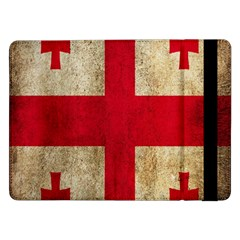 Georgia Flag Mud Texture Pattern Symbol Surface Samsung Galaxy Tab Pro 12 2  Flip Case by Simbadda