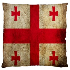 Georgia Flag Mud Texture Pattern Symbol Surface Standard Flano Cushion Case (one Side) by Simbadda