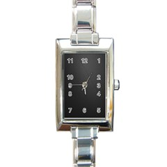 Leather Stitching Thread Perforation Perforated Leather Texture Rectangle Italian Charm Watch by Simbadda