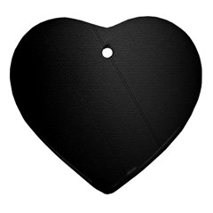 Leather Stitching Thread Perforation Perforated Leather Texture Heart Ornament (two Sides) by Simbadda