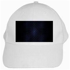Hexagonal White Dark Mesh White Cap by Simbadda