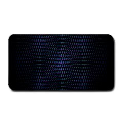 Hexagonal White Dark Mesh Medium Bar Mats by Simbadda