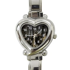 New York United States Of America Night Top View Heart Italian Charm Watch by Simbadda