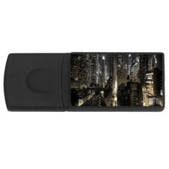 New York United States Of America Night Top View Usb Flash Drive Rectangular (4 Gb) by Simbadda