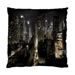 New York United States Of America Night Top View Standard Cushion Case (One Side) by Simbadda