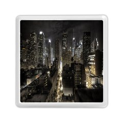 New York United States Of America Night Top View Memory Card Reader (square)  by Simbadda