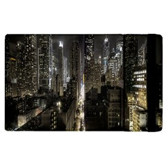New York United States Of America Night Top View Apple Ipad 2 Flip Case by Simbadda