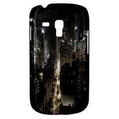 New York United States Of America Night Top View Galaxy S3 Mini by Simbadda