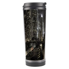 New York United States Of America Night Top View Travel Tumbler by Simbadda