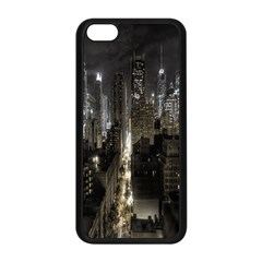 New York United States Of America Night Top View Apple Iphone 5c Seamless Case (black) by Simbadda