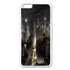 New York United States Of America Night Top View Apple iPhone 6 Plus/6S Plus Enamel White Case by Simbadda