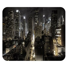 New York United States Of America Night Top View Double Sided Flano Blanket (small)  by Simbadda