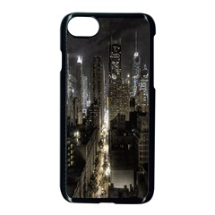 New York United States Of America Night Top View Apple iPhone 7 Seamless Case (Black) by Simbadda