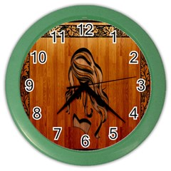 Pattern Shape Wood Background Texture Color Wall Clocks by Simbadda