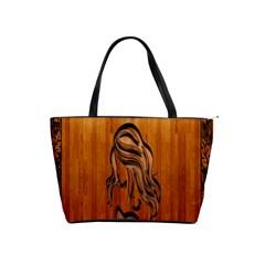 Pattern Shape Wood Background Texture Shoulder Handbags by Simbadda
