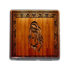 Pattern Shape Wood Background Texture Memory Card Reader (square) by Simbadda