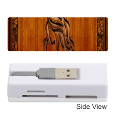 Pattern Shape Wood Background Texture Memory Card Reader (stick)  by Simbadda