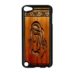 Pattern Shape Wood Background Texture Apple Ipod Touch 5 Case (black) by Simbadda