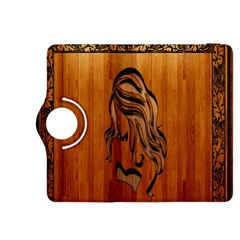 Pattern Shape Wood Background Texture Kindle Fire Hdx 8 9  Flip 360 Case by Simbadda