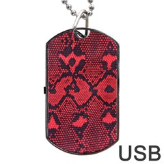 Leather Point Surface Dog Tag Usb Flash (one Side) by Simbadda