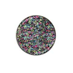 Neon Floral Print Silver Spandex Hat Clip Ball Marker (10 Pack) by Simbadda