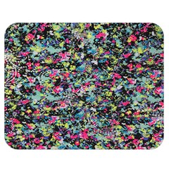 Neon Floral Print Silver Spandex Double Sided Flano Blanket (medium)  by Simbadda