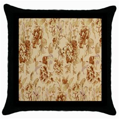 Patterns Flowers Petals Shape Background Throw Pillow Case (black) by Simbadda
