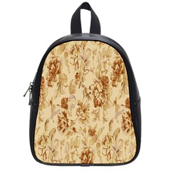 Patterns Flowers Petals Shape Background School Bags (small)  by Simbadda