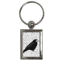 Black Raven  Key Chains (rectangle)  by Valentinaart